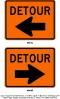 Where to rent SIGN, DETOUR W ARROW  SMALL in Durango CO