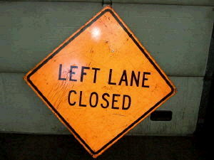 Where to find SIGN, LEFT LANE CLOSED in Durango