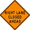 Where to rent SIGN, RIGHT LANE CLOSED AHEAD in Durango CO