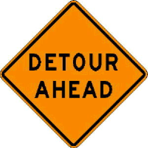 Where to find SIGN, DETOUR AHEAD TWO-SIDED in Durango