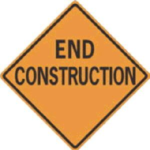 Where to find SIGN, END CONSTRUCTION in Durango