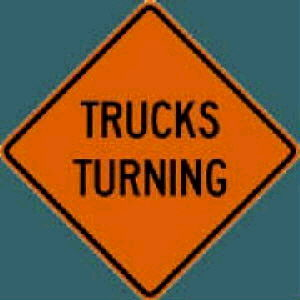 Where to find SIGN, TRUCKS TURNING in Durango