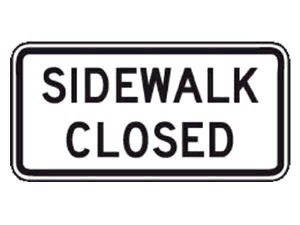 Where to find SIGN, SIDEWALK CLOSED in Durango