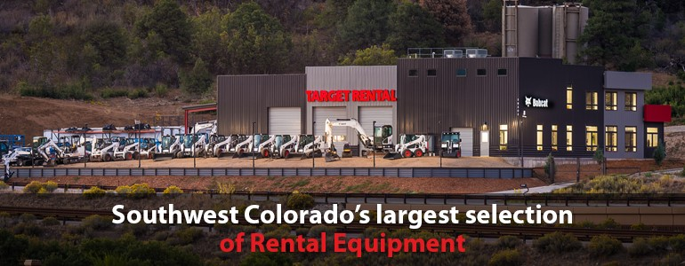 Southwest Colorado's largest selection of Rental Equipment